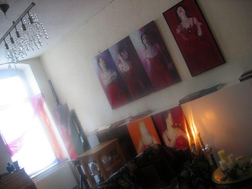 Atelier Ariane Zuber im Januar 2010