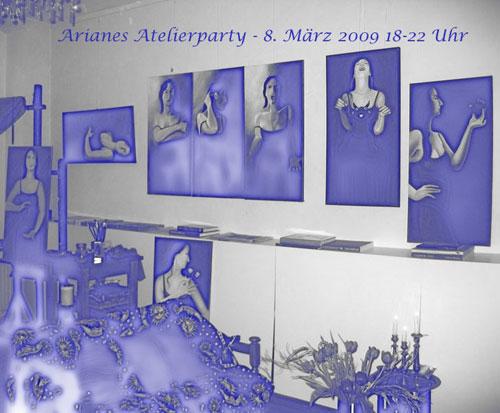 Atelierfest - am Montag 8.März dann in Farbe :)