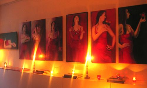 Arianes Atelierfest - die Serie das rote Kleid...