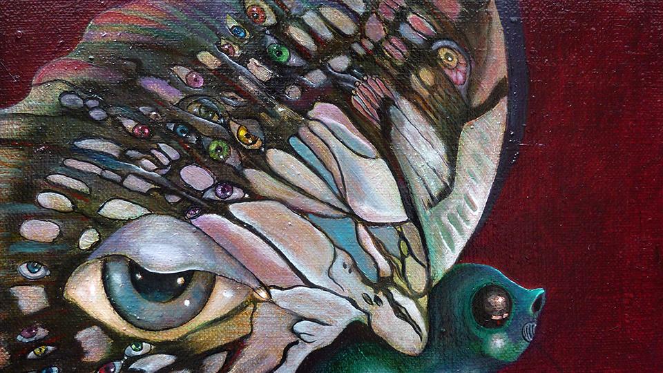 Argusauge sei wachsam, Ölbild von Ariane Zuber