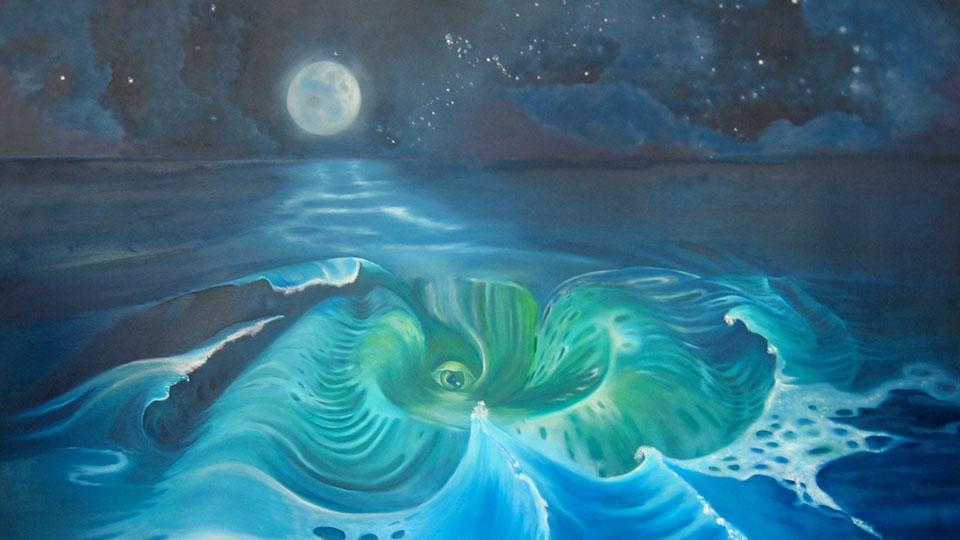 Des Meeres Wesen, Ariane Zuber, Öl auf Leinwand