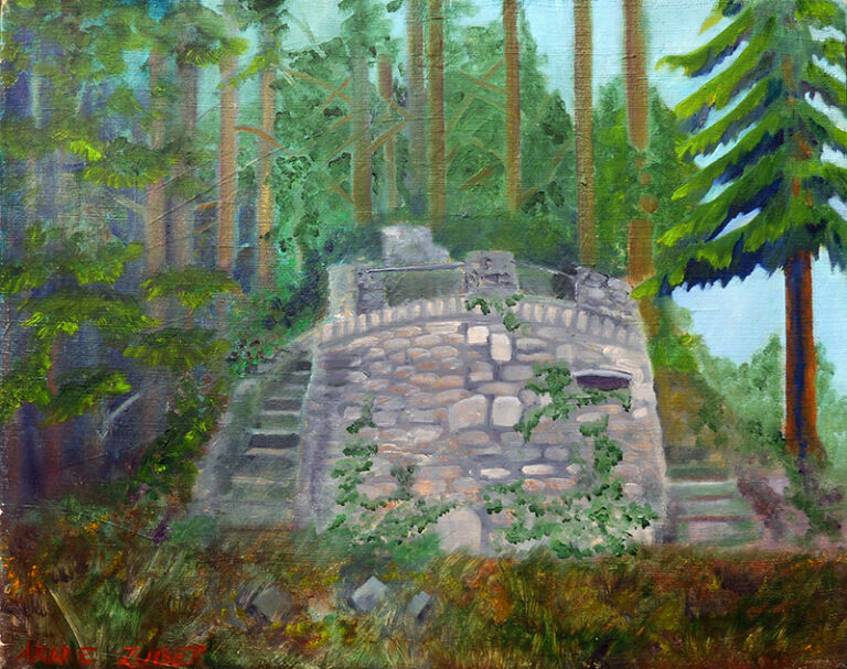 Charlottenstein im Reinhardswald, Ölbild von Ariane Zuber