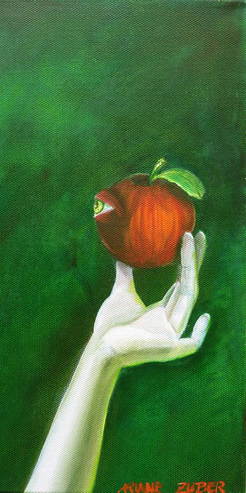 Apfel der Erkenntnis, Ölbld von Ariane Zuber