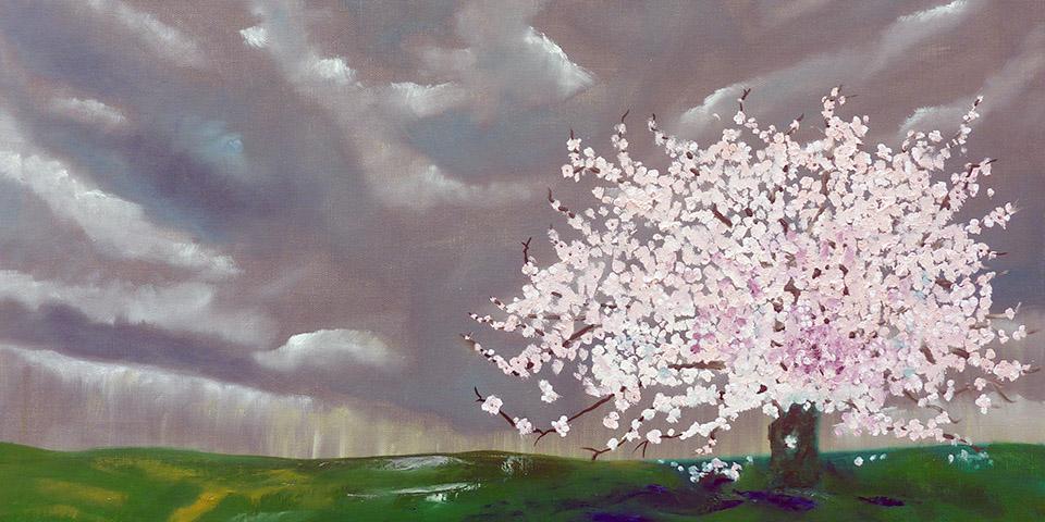 Blühender Baum von Ariane Zuber