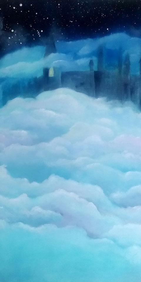Luftschloss, Ölgemälde von Ariane Zuber