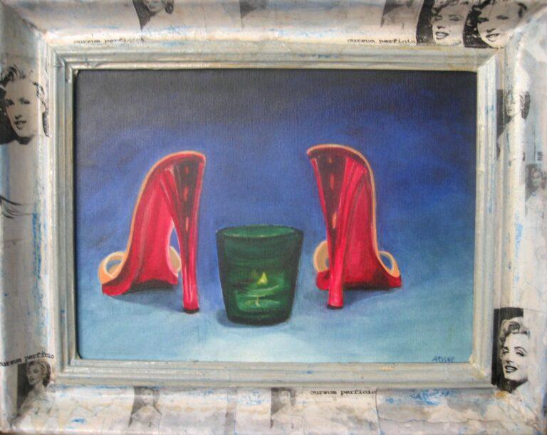 Cursum perficio, Ölbild von Ariane Zuber