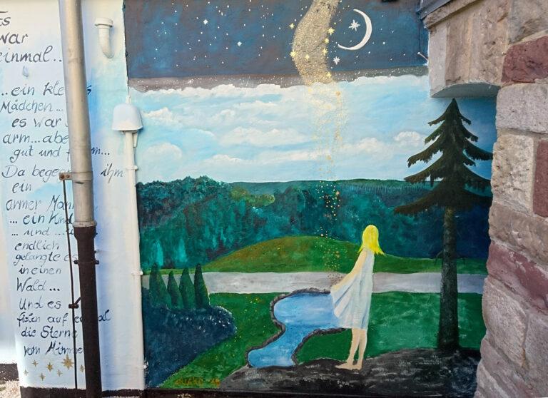 Wandmalerei Sterntaler von Ariane Zuber