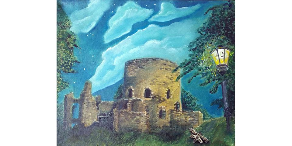 Krukenburg, Gemälde von Ariane Zuber