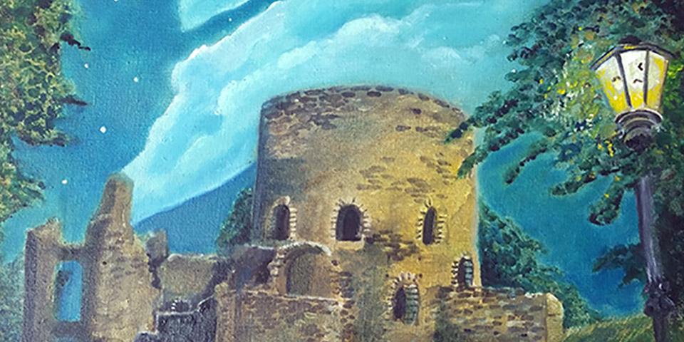 Krukenburg, Poster des Gemäldes von Ariane Zuber