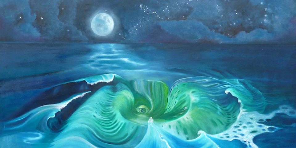 Des Meeres Wesen, Öl auf Leinwand von Ariane Zuber