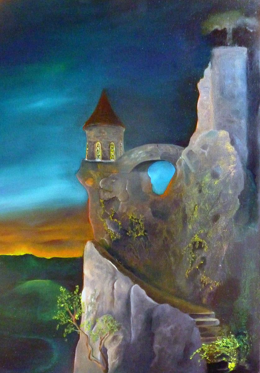 Ausblick -Malerei von Ariane Zuber, 60x80 cm