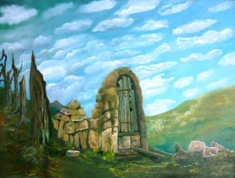 """Landschaftsbild """"Irrweg"""" von Ariane Zuber, Öl auf Leinwand"""