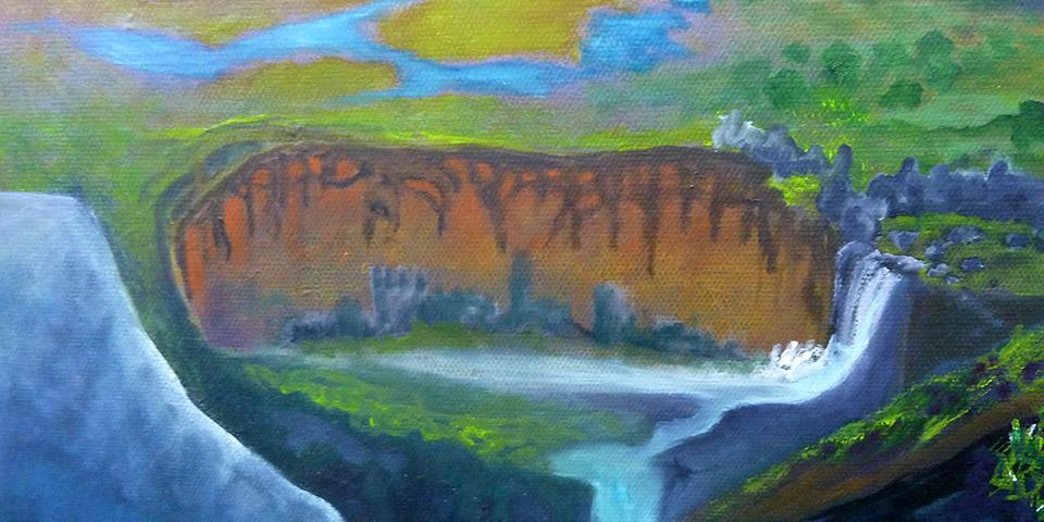 Baum zwischen den Welten, Gemälde von Ariane Zuber