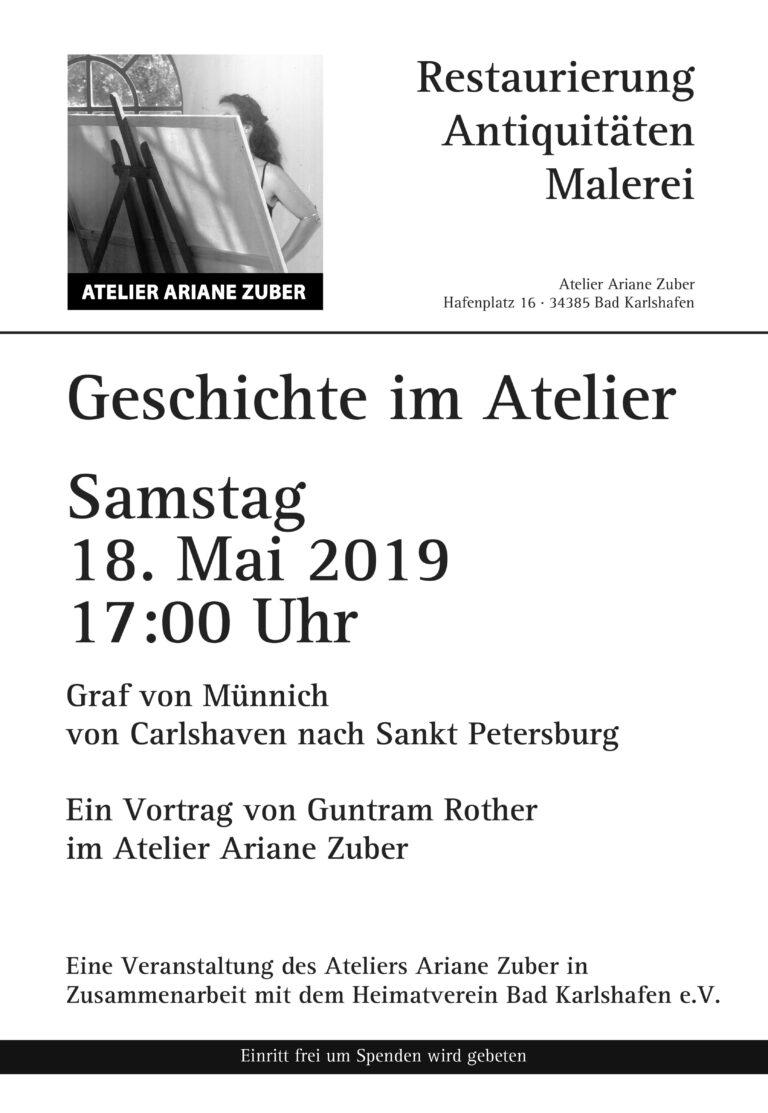 Vortrag Graf von Muennich im Atelier Ariane Zuber