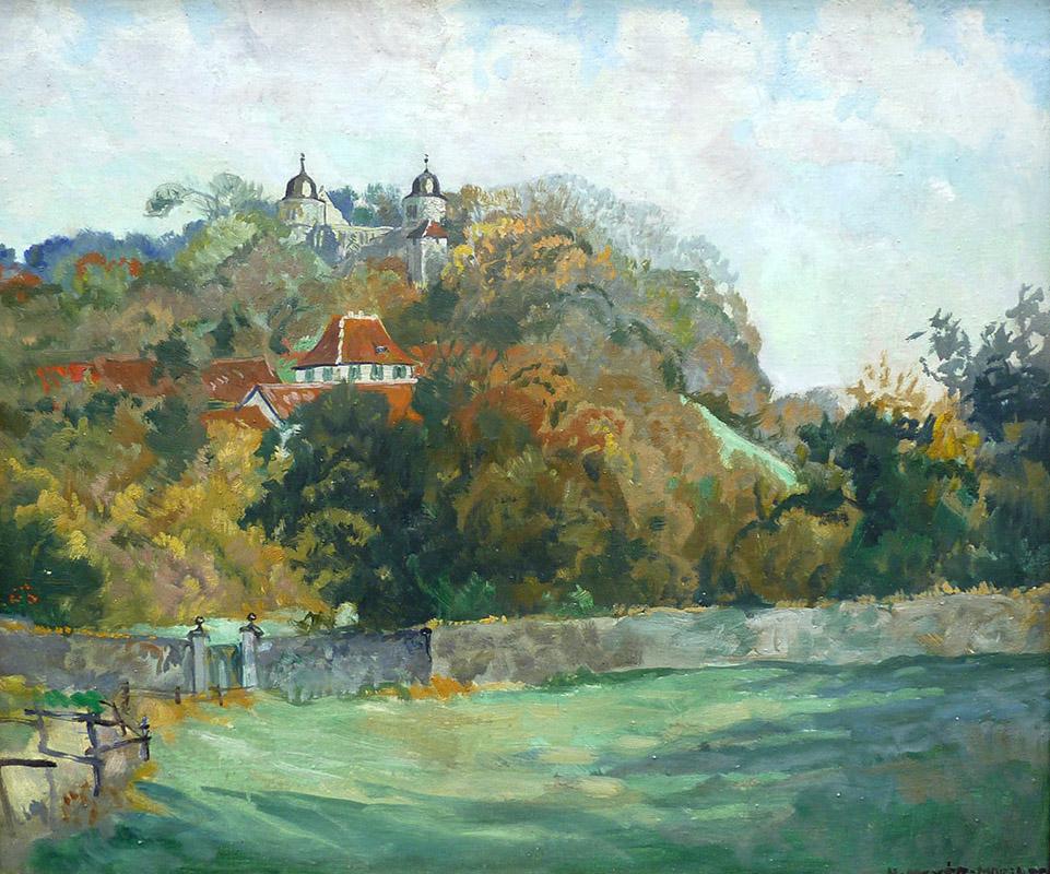 Sababurg, Ölbild von Helene Meyer-Moringen