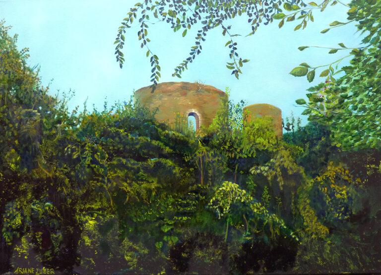 Ariane Zuber - Krukenburg, Öl auf Leinwand 50x70cm