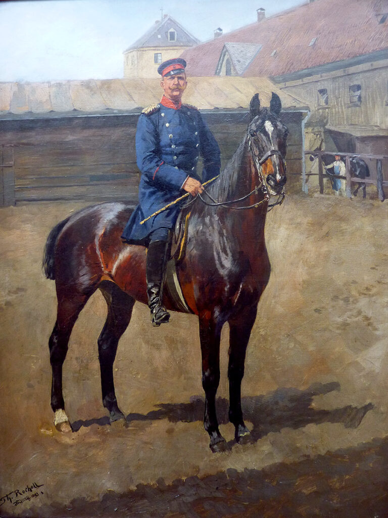 Theodor Rocholl, Öl auf Leinwand, 77x100cm