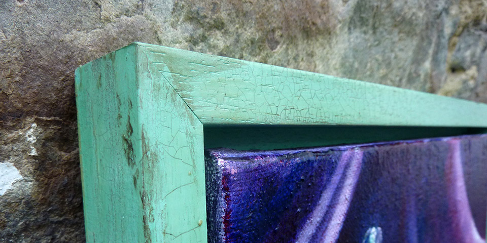 Stilleben mit Teerose von Ariane Zuber, Öl auf Leinen