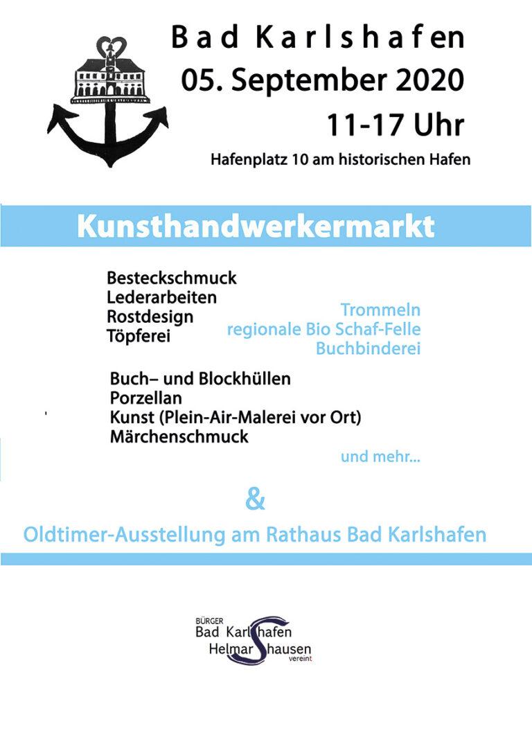 Kunsthandwerkermarkt Bad Karlshafen, 5.9.2020