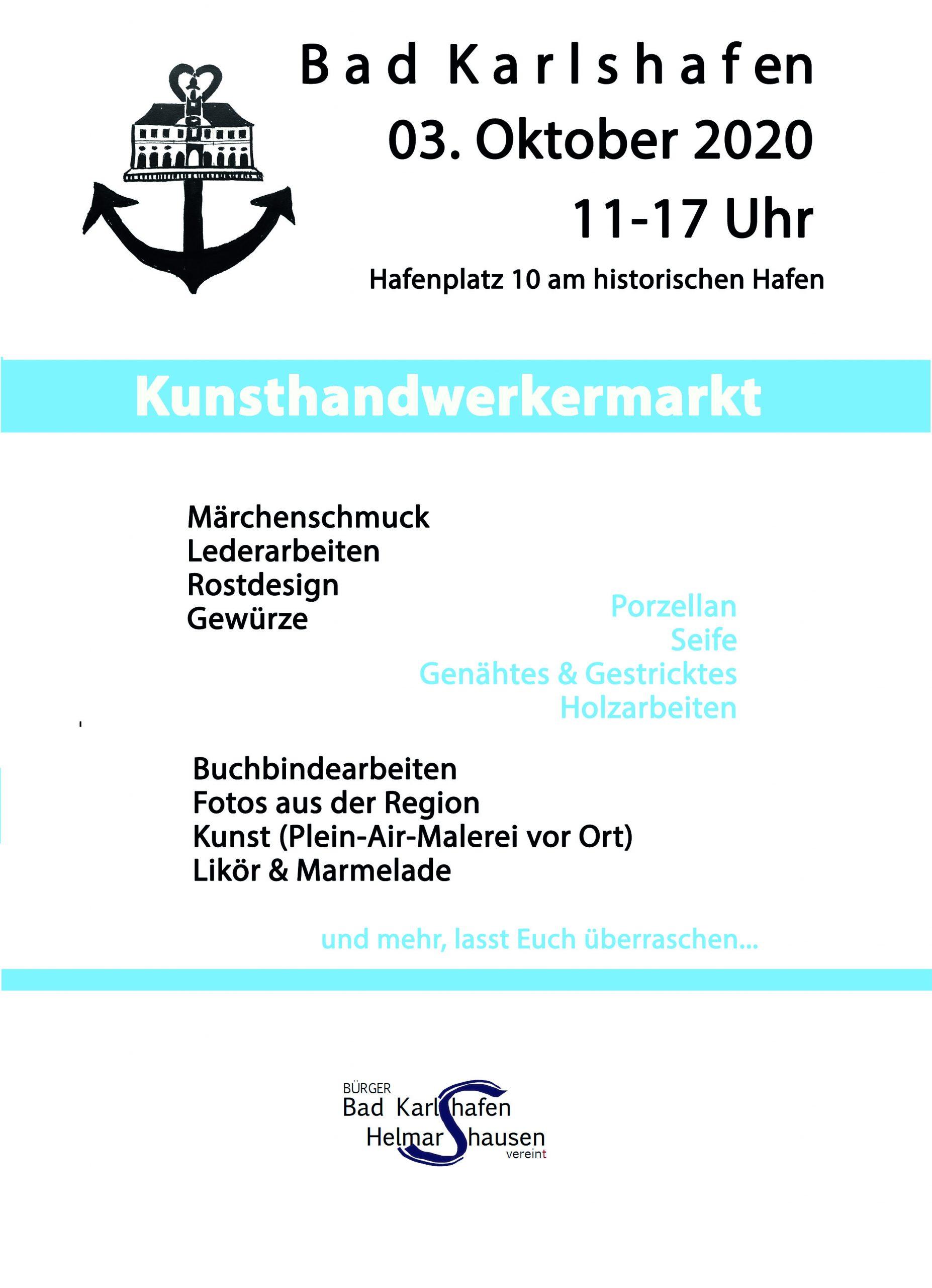 Kunsthandwerkermarkt Bad Karlshafen, 3.10.2020