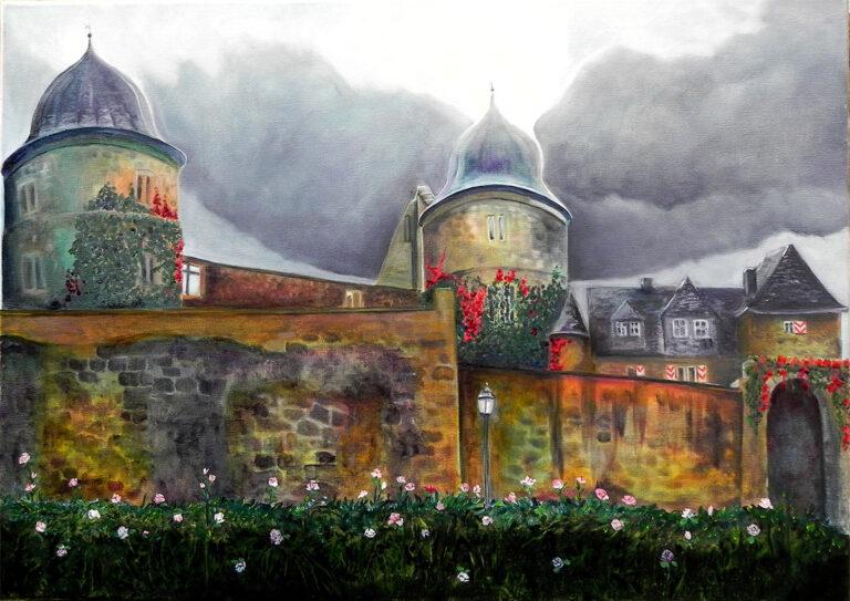 Sababurg, Ölbild von Ariane Zuber