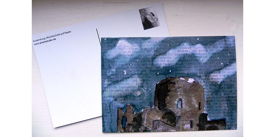 Postkarte Krukenburg von Ariane Zuber