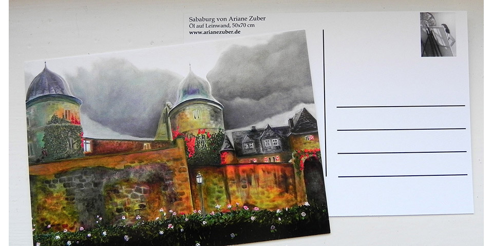 Postkarte Sababurg von Ariane Zuber