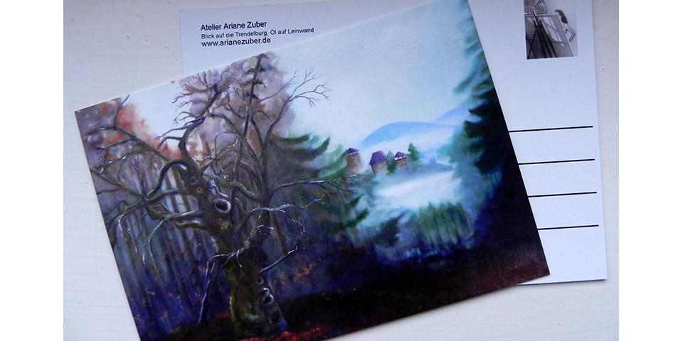 Postkarte Trendelburg von Ariane Zuber