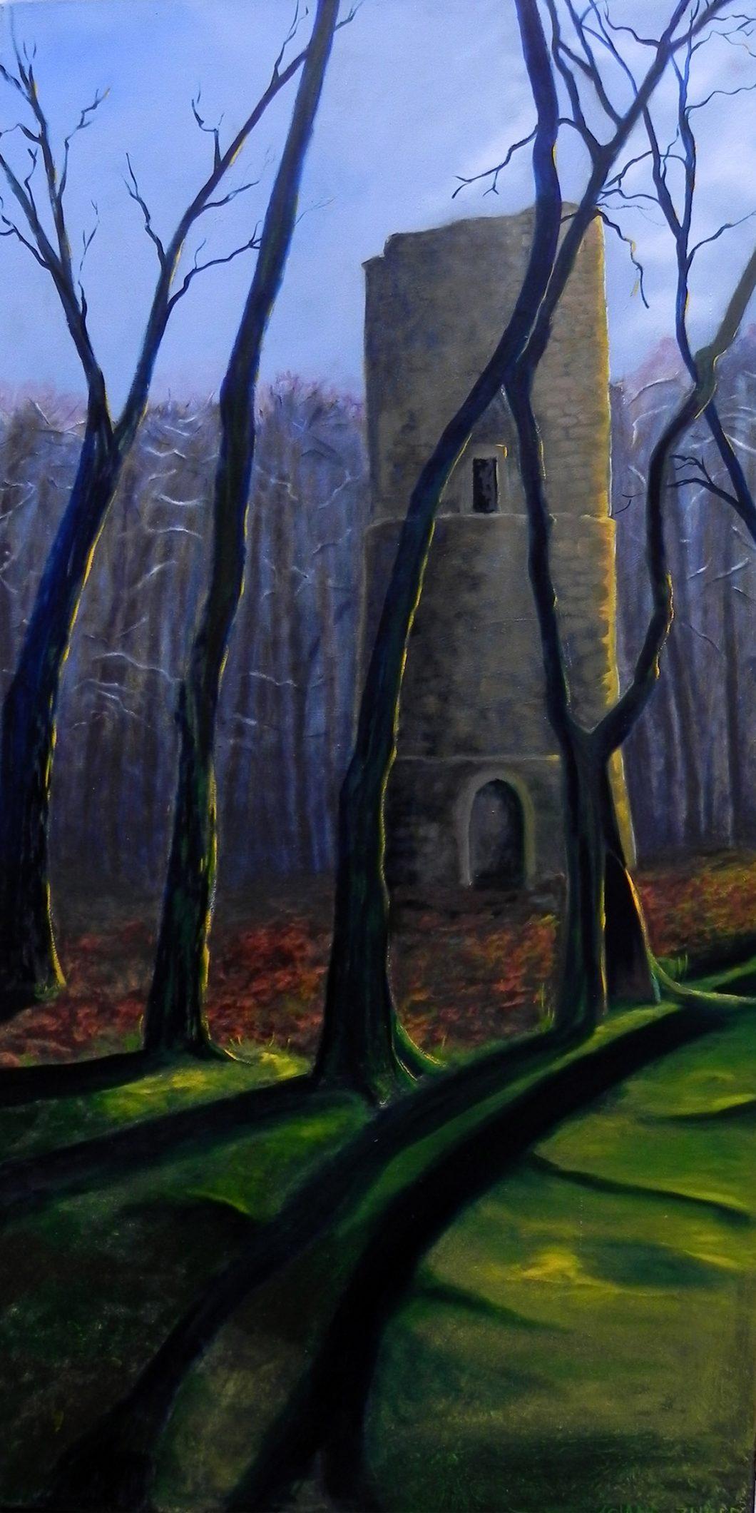 Bramburg im Solling, Ölbild von Ariane Zuber